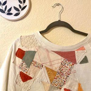 Patchwork Sweater Tee